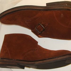 NEW! FRYE MENS BROWN SUEDE ANKLE BOOTS Size 9.5D